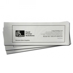 Long Cleaning Cards for Polaroid/Zebra ID Card Printers (Dual-Sided Qty.50) Image 1
