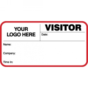 VisitorPass ID Card With Custom Logo (Pack of 500) - Style A Image 1