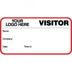 VisitorPass ID Card With Custom Logo (Pack of 500) - Style B Image 1