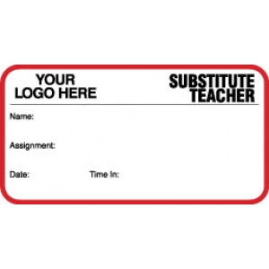 Substitute Teacher ID Card With Custom Logo (Pack of 500) Image 1
