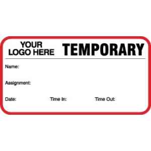 Temporary ID Card With Custom Logo (Pack of 500) Image 1