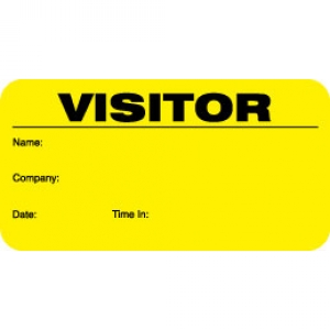 Small Visitor Pass ID Card With Yellow Background (Pack of 500) Image 1