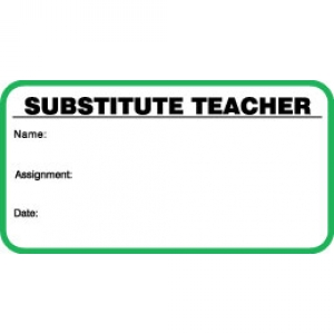 Small Substitute Teacher ID Card (Pack of 500) Image 1