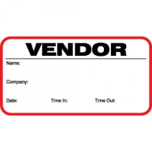 Small Vendor Pass ID Card (Pack of 500) Image 1