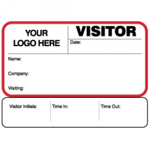 Sign-Out Visitor Pass ID Card With Custom Logo (Pack of 400) - Style A Image 1