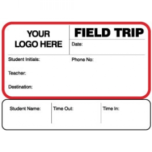 Sign-Out Field Trip Pass ID Card with Custom Logo (Pack of 400) Image 1