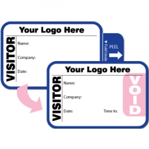 Tab-Expiring Visitor Pass ID Card With Custom Logo (Pack of 500) - Style A Image 1