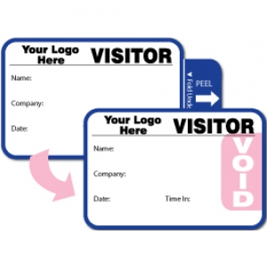 Tab-Expiring Visitor Pass ID Card With Custom Logo (Pack of 500) - Style B Image 1