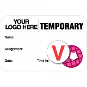 Custom Logo Dot-Expiring Temp ID Card (x500) Image 1