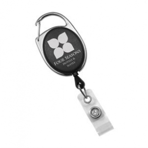 Translucent Carabiner ID Badge Reel (Pack of 100) Image 1