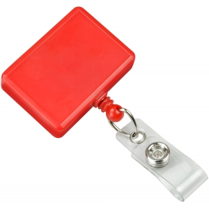Red Rectangle Badge Reel (pack of 25) Image 1