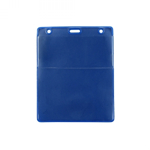 Royal Blue Vertical Event Vinyl Credential Wallet w/ Slot & Chain Holes (pack of 100) Image 1