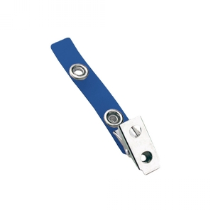 Blue 2-Hole Colored Strap Clip (Pack of 300) Image 1