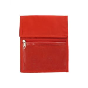 Red Nylon Credential Wallet (Pack of 25) Image 1
