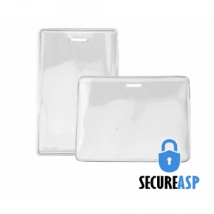 Secure ASP Heavy Duty Vinyl Prox Card Holders - Credit Card Size (Pack of 100) Image 1