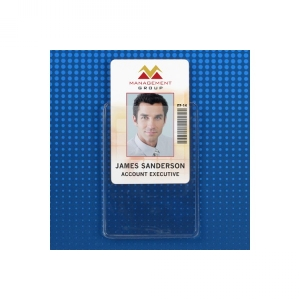 Anti-Transfer Heavy Duty Vertical Proximity Card Holder - Credit Card Size (Pack of 100) Image 1
