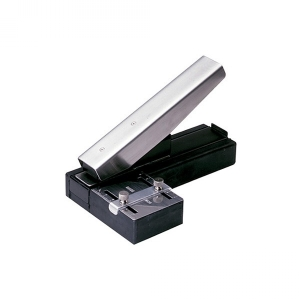 Stapler-Style Slot Punch with Adjustable Guide Image 1