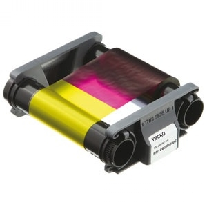 Evolis Full Colour Ribbon - YMCKO - 100 Prints (EV-CBGR0100C) Image 1
