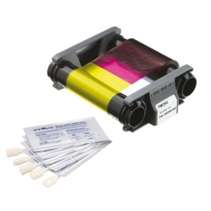 Evolis Full Colour Ribbon and Cleaning Kit - YMCKO - 100 Prints Image 1