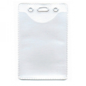 Genuine Brady Clear Vinyl Vertical Anti-Static Badge Holder - Credit Card Size (Pack of 100) Image 1