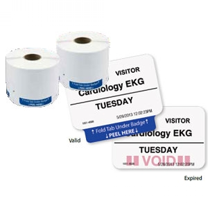TEMPbadge 02050 Direct Thermal Printer Badges (qty. 1000) Image 1