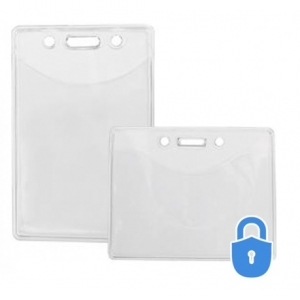 Secure ASP Vinyl Badge Holders - Credit Card Size (pack of 100) Image 1