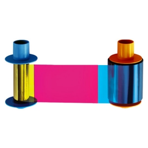 Fargo YMCKO Half Panel Colour Ribbon - 850 Prints Image 1