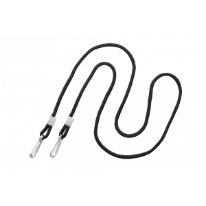 Black Open Ended Lanyard with Two Swivel Hooks (pack of 100) Image 1