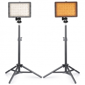 10ft Metal stand with 30w LED Light Image 1