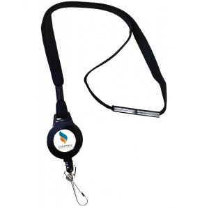 ASP Secure Heavy Duty Breakaway Lanyard With Badge Reel, J-Hook & Custom Logo (Pack of 200) Image 1