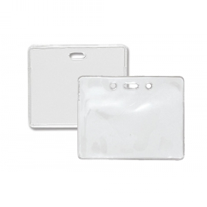 Horizontal Heavy-Duty Vinyl Prox Card Holder - Credit Card Size (Pack of 100) Image 1