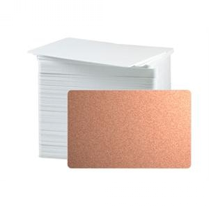 CR80 30 Mil PVC Cards, Metallic Copper (pack of 100) Image 1