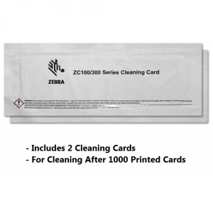 Zebra Cleaning Card Kit, ZC100/ZC300/ZC350, 2000 Printed Cards Image 1