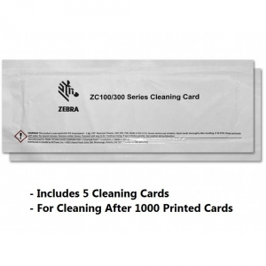 Zebra Cleaning Card Kit, ZC100/ZC300/ZC350, 5000 Printed Cards Image 1