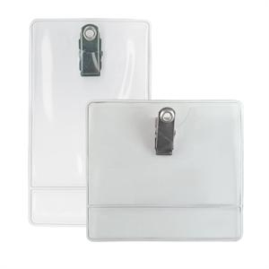 Vinyl Clip-On Display Badge Holder (Pack of 100) Image 1
