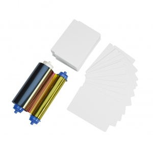 Zebra 105999-10L2 Media Kit - 400 PVC Cards & YMCO Ribbon - ZC10L Image 1