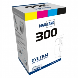 Magicard 300 YMCKOK Colour Front, Black Back Ribbon - 200 Prints Image 1