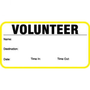 Visitor Pass Registry Book Stock Non-Expiring Badges - 707 Volunteer (2 Books) Image 1