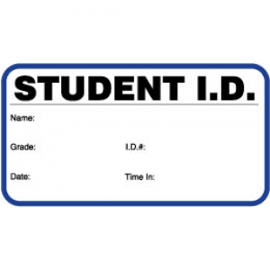 Visitor Pass Registry Book Stock Non-Expiring Badges - 706 Student ID (1 Book) Image 1