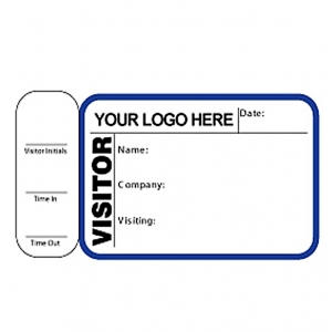Visitor Pass Registry Book Custom Non-Expiring Badges with Side Sign Out - 760 Company (2 Books) Image 1