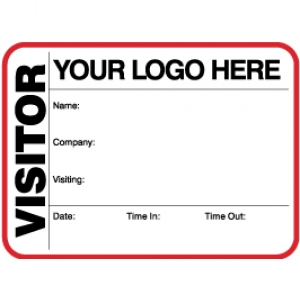 Visitor Pass Registry Book Custom Non-Expiring Large Badges - 739A Company (2 Books) Image 1