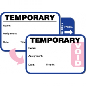 Visitor Pass Registry Book with Stock Self-Expiring Small Badges  - 811 Substitute Teacher (2 Books) Image 1