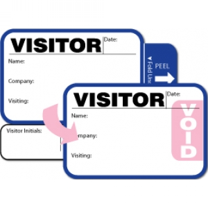 Visitor Pass Registry Book with Stock Tab-Expiring Badges with Sign Out - 816 Destination (2 Books) Image 1