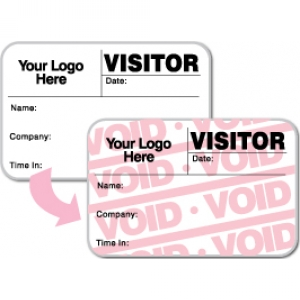 Visitor Pass Registry Book Custom Full-Expiring Badges - 807F Company (1 Book) Image 1