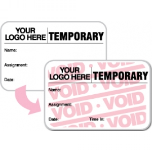 Visitor Pass Registry Book Custom Full-Expiring Badges - 819F Temporary (5+ Books) Image 1