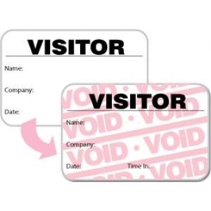 Visitor Pass Registry Book Stock Full-Expiring Badges - 806F Destination (2 Books) Image 1