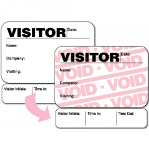 Visitor Pass Registry Book Full-Expiring Badges with Sign Out - 816F Destination (2 Books) Image 1