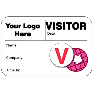 Visitor Pass Registry Book Stock/Custom Dot-Expiring Badges - 807D Company (1 Book) Image 1