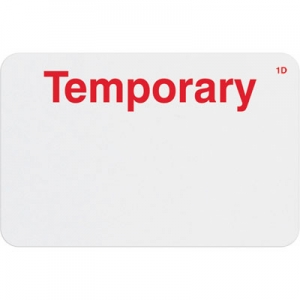TEMPbadge T2004 - 1 Day Adhesive Expiring Handwritten Badge with Printed