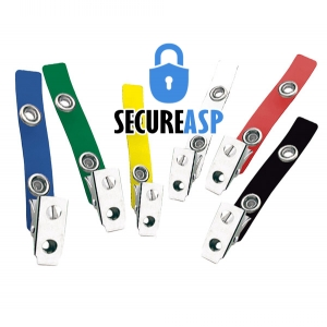 Secure ASP 2-Hole Colour Vinyl Strap Clip (Pack of 100) Image 1